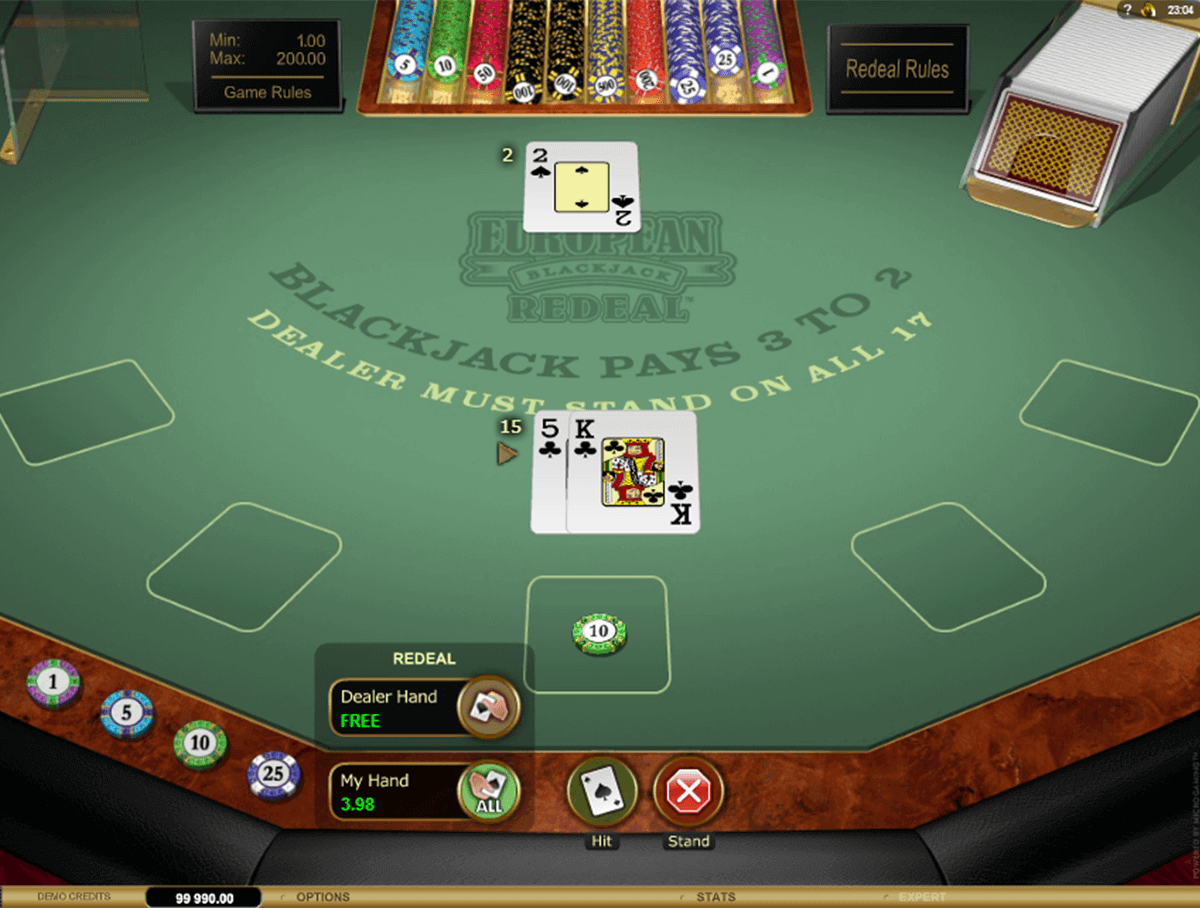 Microgaming European Blackjack - 45107